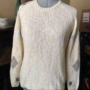 Charter Club argile sweater/scarf set